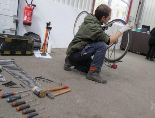 À la ressourcerie Eco'Sol, on peut aussi faire réparer son vélo