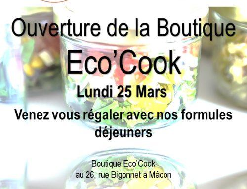 Ouverture de la Boutique Eco'Cook