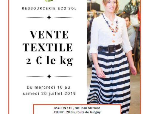 Vente textile au kg
