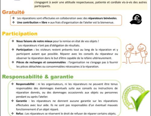 Charte de l'atelier d'auto-réparation à Cluny