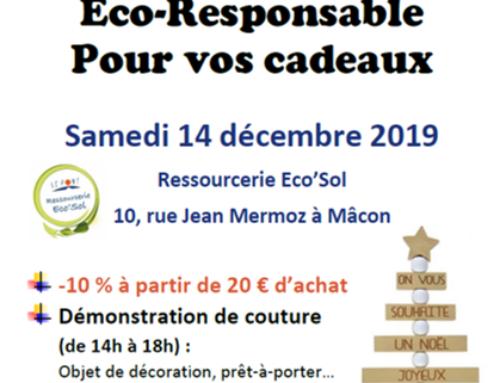 Achat Eco'Responsable à la ressourcerie Eco'Sol