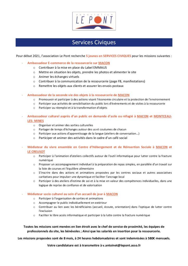 thumbnail of services civiques