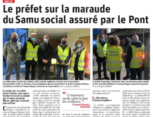 Le Préfet sur la maraude du Samu Social